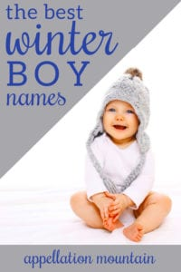 winter names for boys