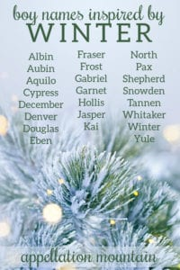 winter boy name list
