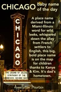 Chicago: Baby Name of the Day
