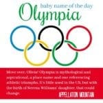 Olympia: Baby Name of the Day