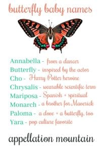 Butterfly Baby Names