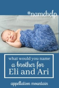 Name Help: A Brother for Eli and Ari
