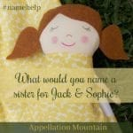 Name Help: A Sister for Jack and Sophie