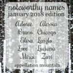 Noteworthy Names January 2018