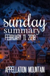 Sunday Summary: 2.11.18