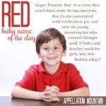 Red: Baby Name of the Day