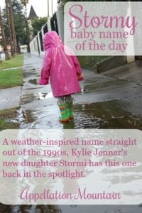 Stormy: Baby Name of the Day