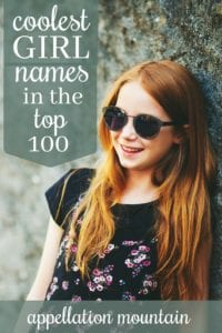 Coolest Top 100 girl names