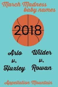March Madness baby names 2018 boys semifinals