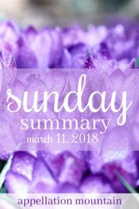 Sunday Summary 3.11.18