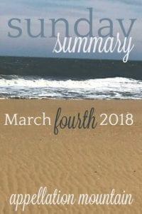 Sunday Summary 3.4.18