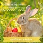Spring Baby Names: The Ultimate List of Lists