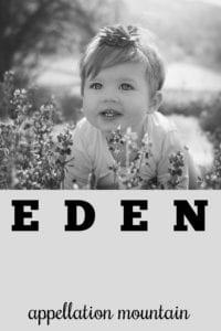 girl name Eden