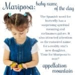 Mariposa: Baby Name of the Day