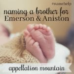 Name Help: A Brother for Emerson and Aniston