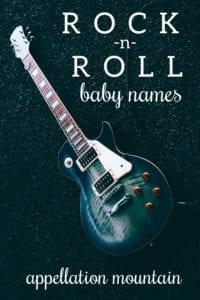 rock n roll baby names