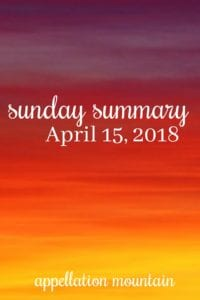 Sunday Summary 4.15.18