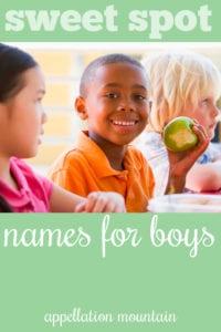 sweet spot boy names