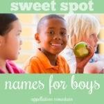 Sweet Spot Boy Names: Jonah, Malcolm, Lane