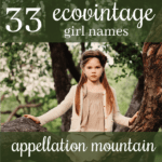 33 EcoVintage Girl Names: Flora, Lillie, June