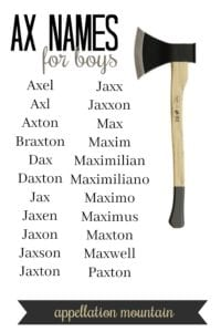 Ax Names for Boys
