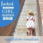 Fastest Rising Girl Names 2018 Update