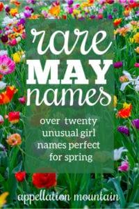 rare May names