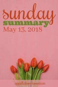 Sunday Summary 5.13.18