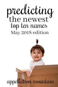 Top Ten Baby Names Predictions 2018