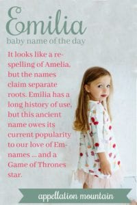 Emilia: Baby Name of the Day