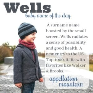 Wells: Baby Name of the Day