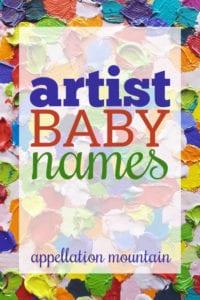 artist baby names
