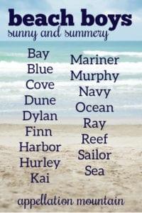 Beach Boy Baby Names