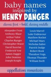 Henry Danger baby names