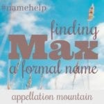 Name Help: A Formal Name for Max