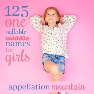 One-Syllable Middle Names for Girls