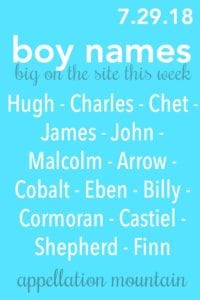 Boy Names 7.29.18