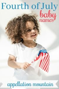 Fourth of July baby names