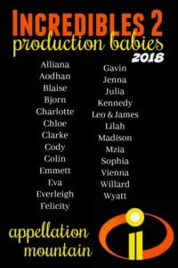 Incredibles production babies 2
