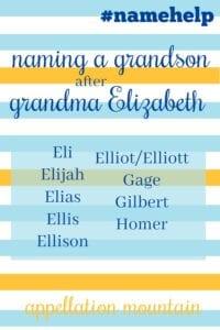 Name Help: Elizabeth honor names