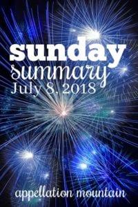 Sunday Summary: 7.8.18