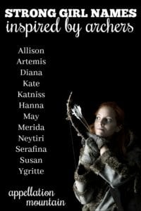 Strong Girl Names Inspired by Archers