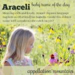Araceli: Baby Name of the Day