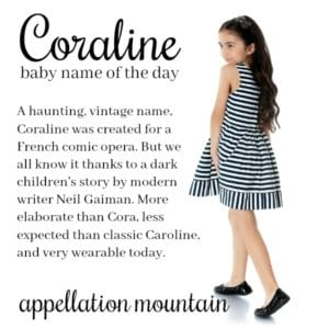 Coraline: Baby Name of the Day