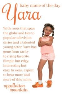 Yara: Baby Name of the Day - Appellation Mountain