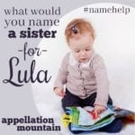 Name Help: A Sibling for Lula