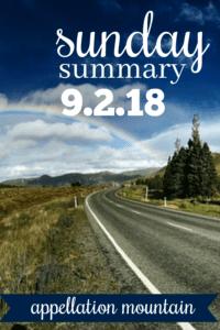 Sunday Summary: 9.2.18