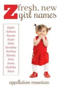 Z Girl Names