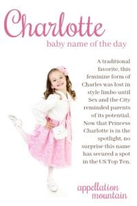 Charlotte: Baby Name of the Day