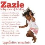 Zazie: Baby Name of the Day